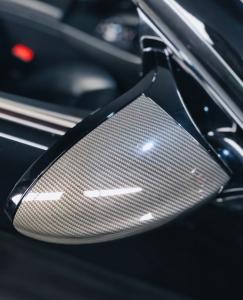 carbon fiber vinyl wrap on mirrors