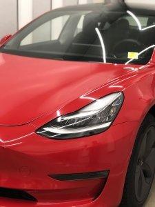 Tesla red vinyl wrap