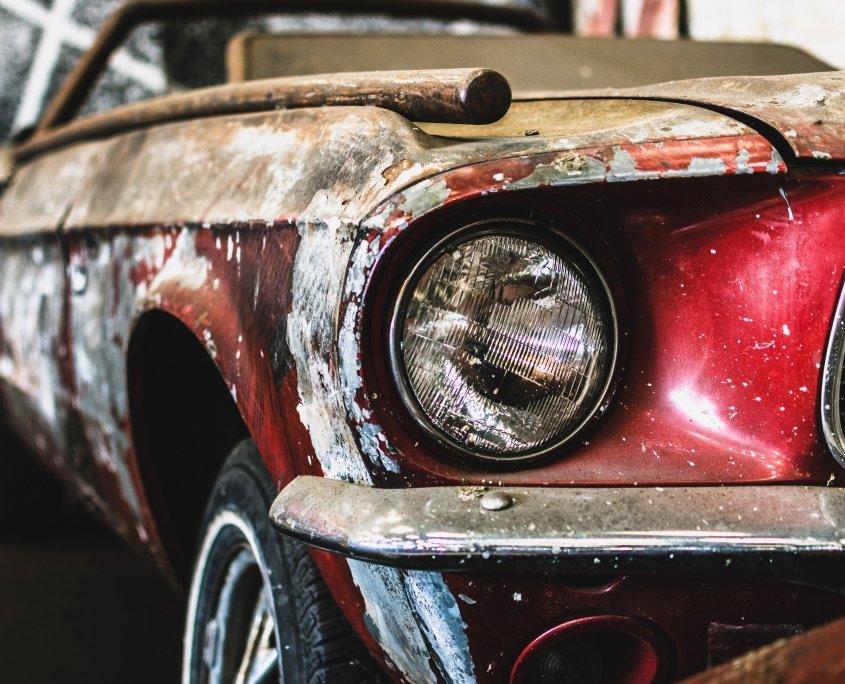 rusty car paint