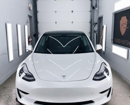 Tesla model 3 front ppf