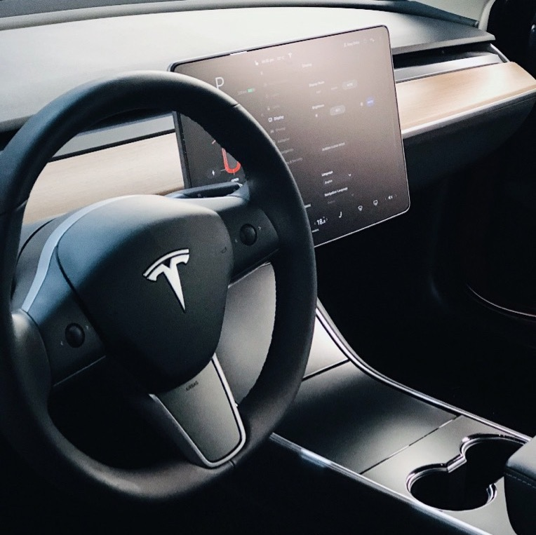 interior Tesla wrap