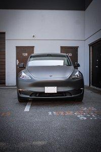 Hurricane Grey Tesla Wrap